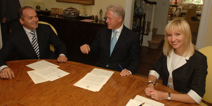 Signature of the Agreement of Cooperation between Clinton' Foundation, Elena and Victor Pinchuk / Elena Pinchuk Foundation