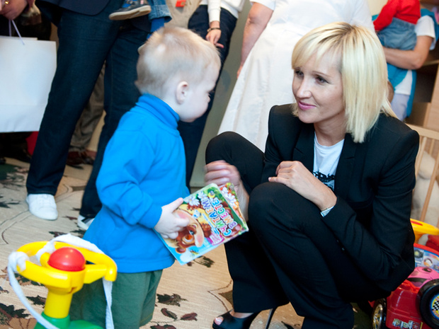 "Elton John and Elena Pinchuk presented the first results of the ""Children plus"" project / Elena Pinchuk Foundation"